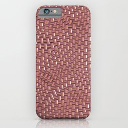 Abstract brown knitwear iPhone Case