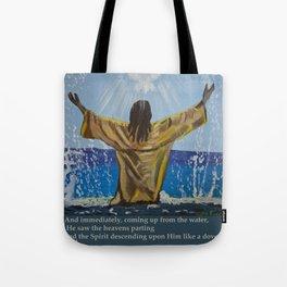 Jesus Baptism Tote Bag