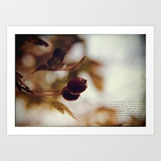 a song in the dark Art Print
