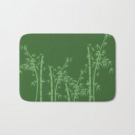 Bamboo design green all Bath Mat