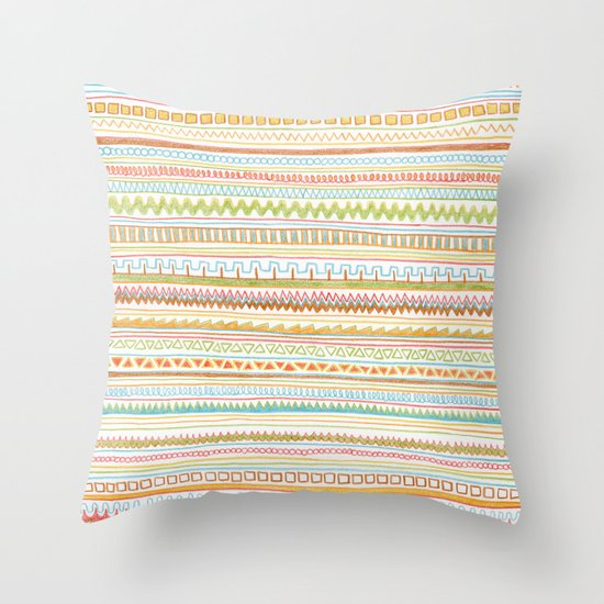 Pencil Doodles Throw Pillow