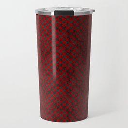Retro Check Grunge Material Red Black Travel Mug