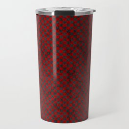Retro Check Grunge Material Red Black Travel Mug