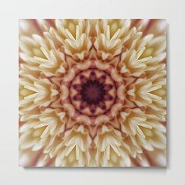 Pink Antique Floral Tile 49 Metal Print
