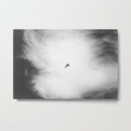 Modern Sky Photograph in Black and White Metal Print