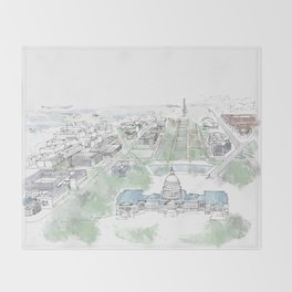Washington Capitol Throw Blanket