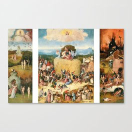 The Haywain Triptych by Bosch 1519 Canvas Print