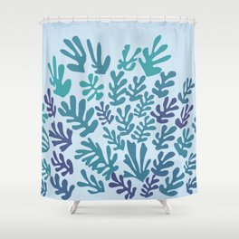 """Collage of Leaves, #4 """"Seaside"""" -by Henri Matisse Shower Curtain"""