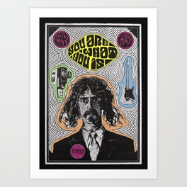 Tribute to Frank Zappa Art Print