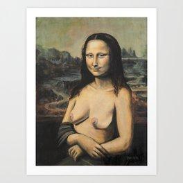 Moaner Lisa Art Print