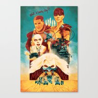 mad max Canvas Prints featuring Mad Max by marclafon