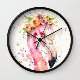 Little Flamingo Wall Clock