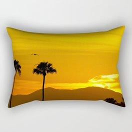 Seagull Over Saddleback at Sunrise Rectangular Pillow