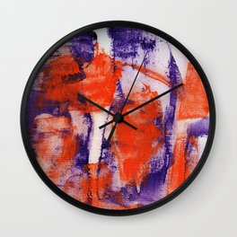 Abstract Expression #12 by Michael Moffa Wall Clock