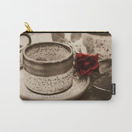 After Dinner Coffee Sepia Carry-All Pouch