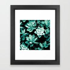 Succulent PATTERN III Framed Art Print