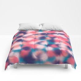 Modern Girly Coral Purple Paint Daub Art Comforters