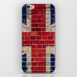 UK flag on a brick wall iPhone Skin