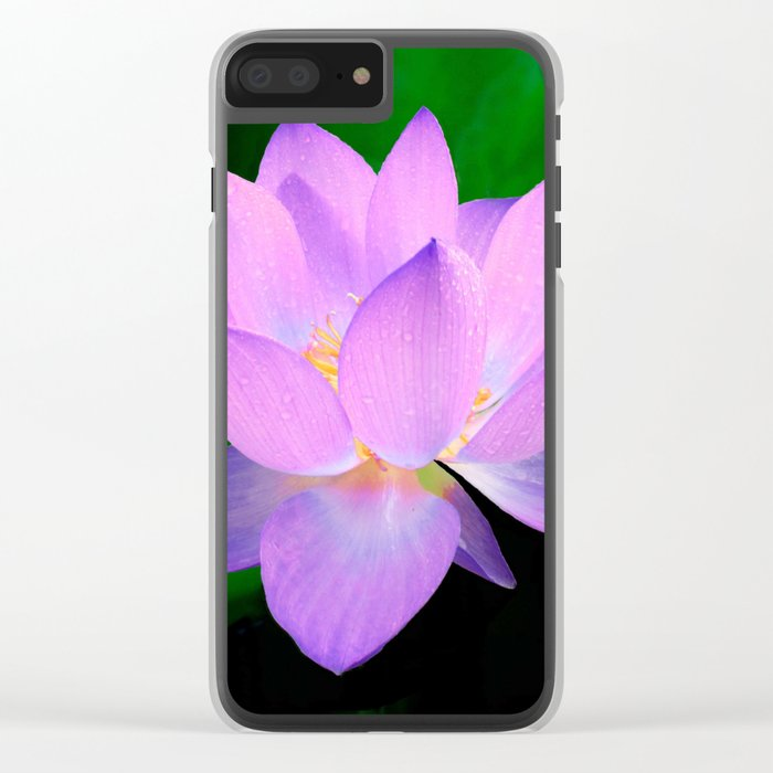 lotus flower Clear iPhone Case