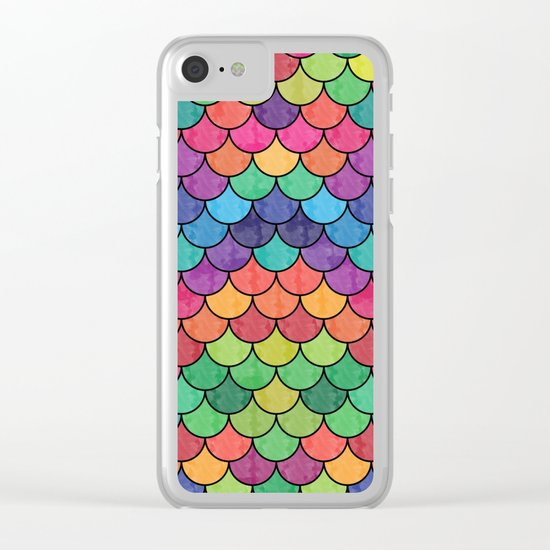 Watercolor Lovely Pattern VVXVII Clear iPhone Case
