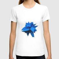 polygon T-shirts featuring Blue Polygon by error23