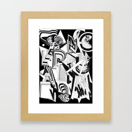 History of Art in Black and White. Conceptualism Framed Art Print
