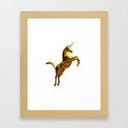 Gold Unicorn Framed Art Print