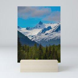 Bear_Creek Mountain Glacier - Alaska Mini Art Print