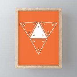 Orange Unrolled D4 Framed Mini Art Print