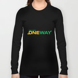 Jesus Christ one way,Christian,Bible Quote Long Sleeve T-shirt