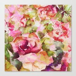 roses abstraites Canvas Print