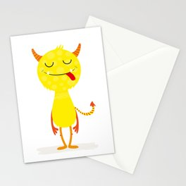 Funny little monster #society6 #decor Stationery Cards