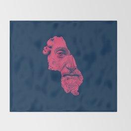 MARCUS AURELIUS ANTONINUS AUGUSTUS / prussian blue / vivid red Throw Blanket