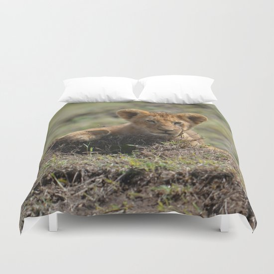 Adorable Lion Cub Duvet Cover