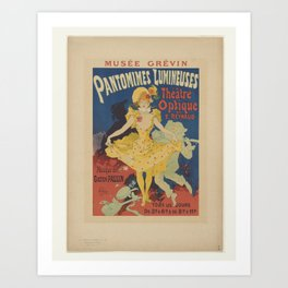 Folies-Bergere, French Dancer, 1896-1900 Art Print