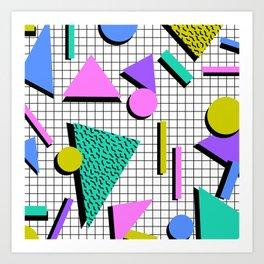 80s Retro Geometric Pattern 2 Art Print