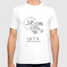 The iOTA Bird MEDIUM Mens Fitted Tee White