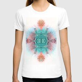 Sacred Geometry Feathered Pastel Mandala T-shirt