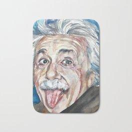 ALBERT EINSTEIN - watercolor portrait Bath Mat