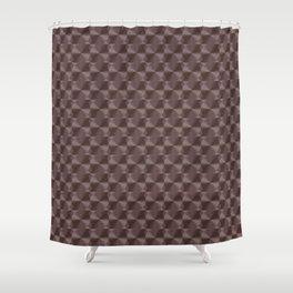 Copper art deco metal circles Shower Curtain