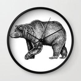 Bear ink Wall Clock