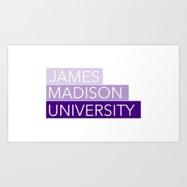 JMU Blocks Art Print