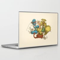 sesame street Laptop & iPad Skins featuring Open Sesame by Eric Fan