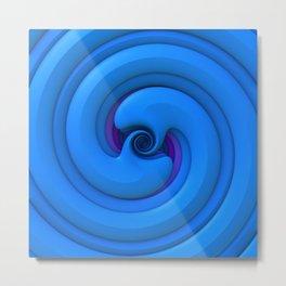 BlueSnake Spiral Metal Print