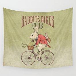 Rabbits Biker Club Wall Tapestry