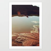 water and clouds Art Print