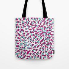 Organic Petals Pattern Pink Turquoise Tote Bag