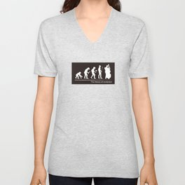 The theory of evolution(contrabass) Unisex V-Neck