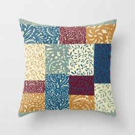 Damask Quilt Throw Pillow
