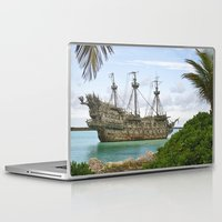 pirate ship Laptop & iPad Skins featuring Pirate ship in the Caribbean by Daylight Magic: Images by Jeff